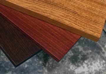 Custom made solid hardwood table tops for DIY clients, restaurant, office, library and home decor in stained Sapele Mahogany from Great Spirit Hardwoods in Chicago suburbs.