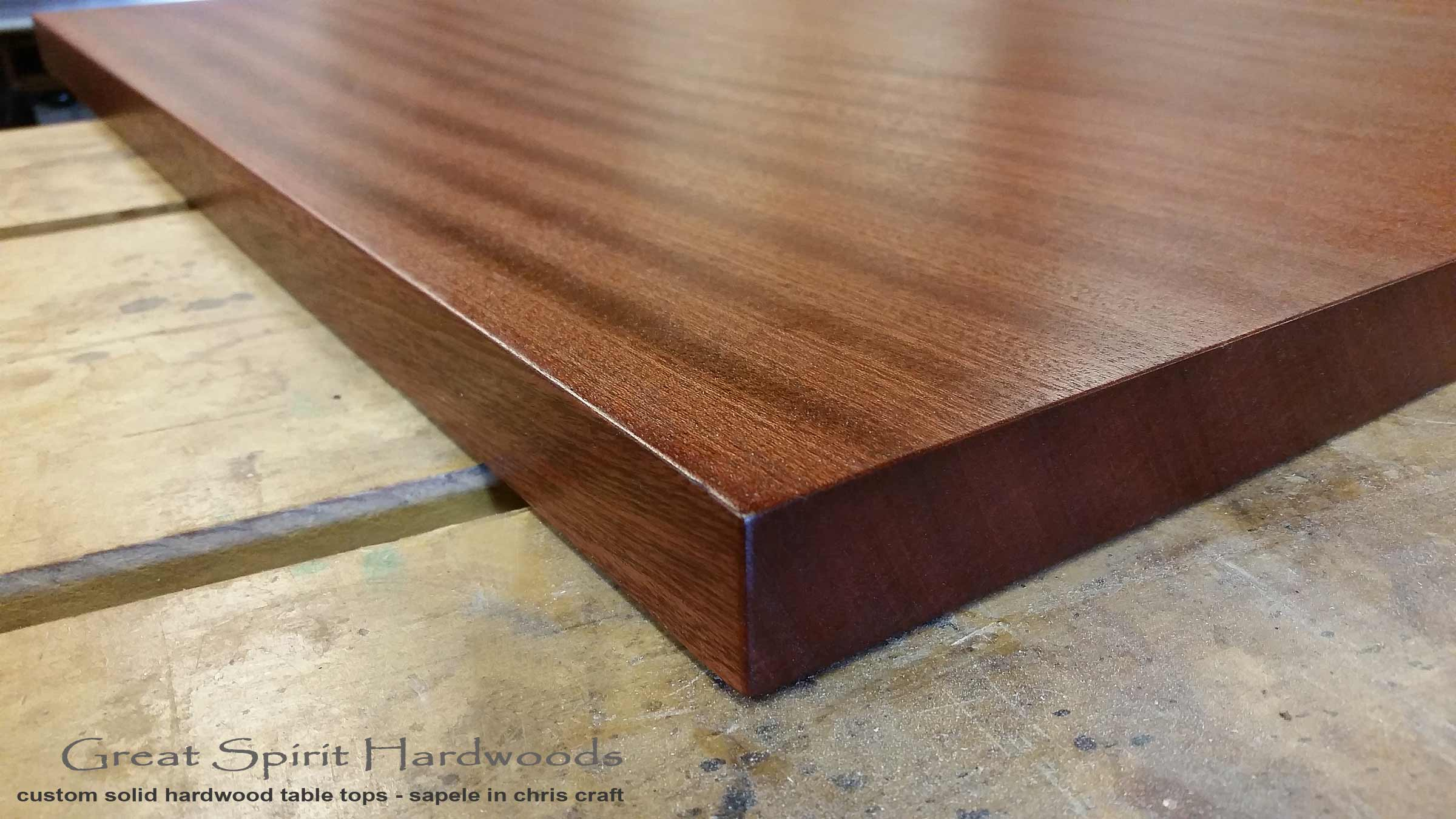 Custom Made Solid Hardwood Table Tops For Restaurant Office Library And Residential Clients In