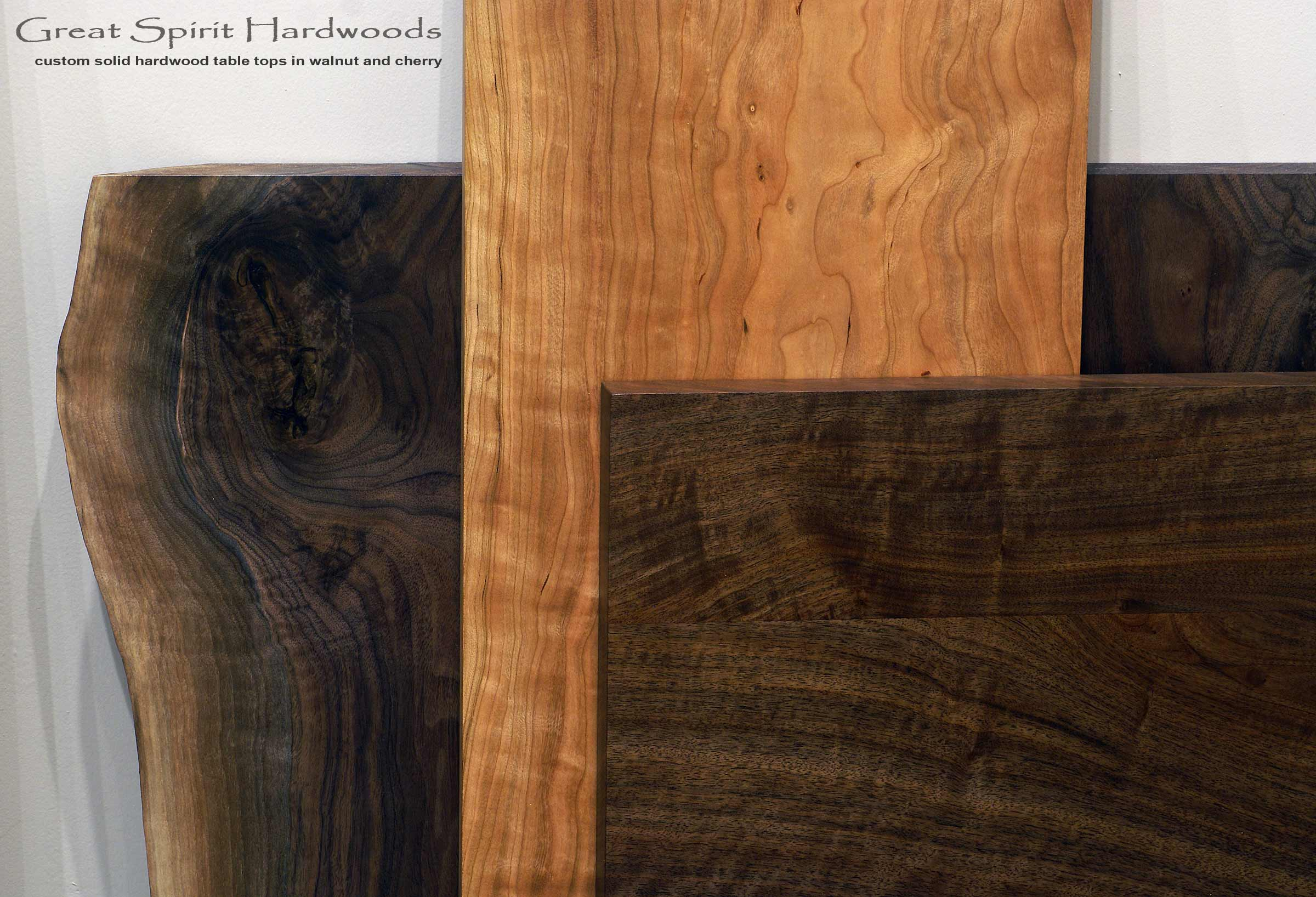 Custom Made Table Tops In Walnut And Cherry, Live Edge Or Rectangular In  Any Size