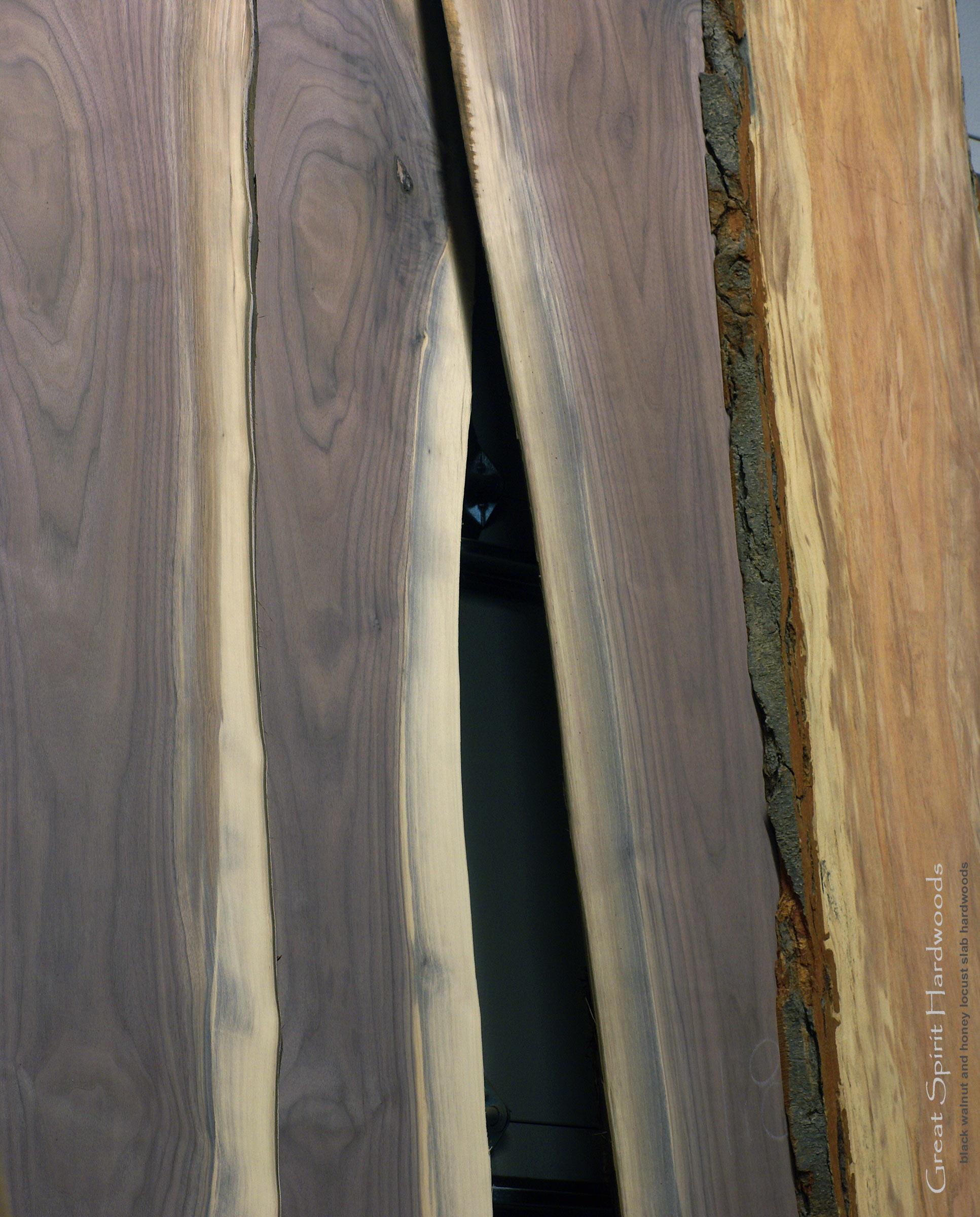 Black Hardwood Lumber ~ Custom solid hardwood table tops live edge slabs