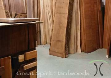 Our Mom and Pop hardwood lumber retail store, Great Spirit Hardwoods in East Dundee, Illinois.