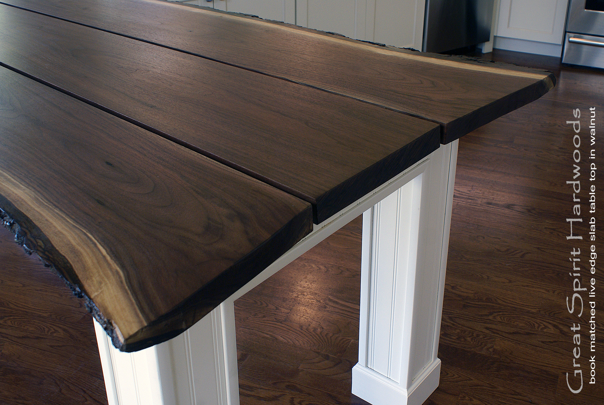 Walnut live edge dining table - Tree Shaped Slab Of Black Walnut With Wedge To Create A Stunning Live Edge Dining Table