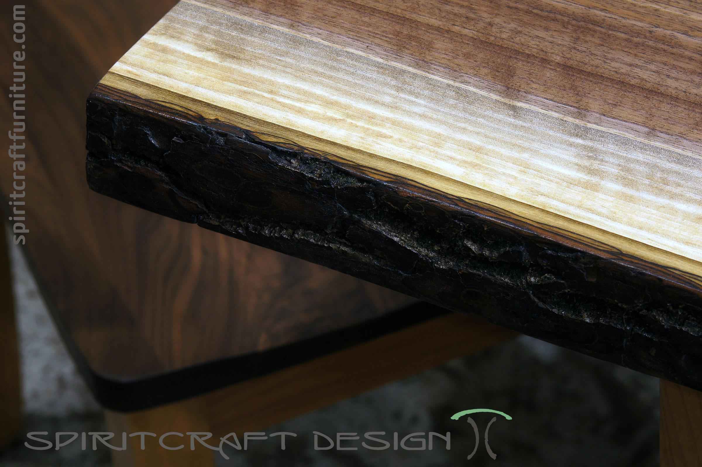 Live Edge Dining Table Or Desk In Solid Book Matched Black Walnut Live Edge  Slabs